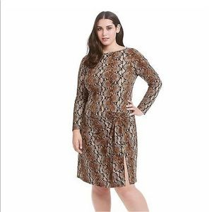 MICHAEL Michael Kors Plus Size Snake Print Dress